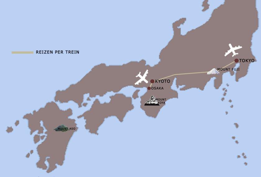 hoogtepunten japan reis kaart iki Travels
