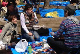 sakura lentebloesem reis Japan tokyo picknick iki Travels