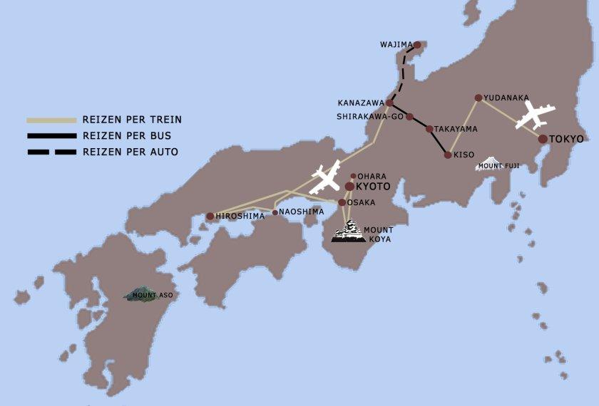 Veelzijdig Japan reis kaart iki Travels