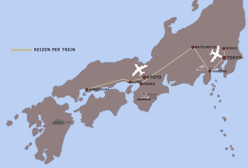 familie reis Japan kaart iki Travels