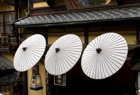 Japan kyoto koffiehuis paraplus