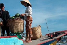 Vietnam Mekond delta drijvende markt