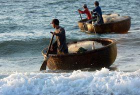 Vietnam strand vissers