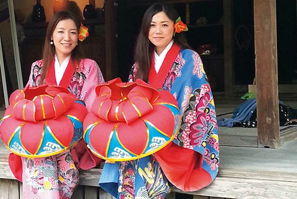 Japan Okinawa traditionele kleding