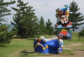 Japan reis Naoshima moderne kunst bouwsteen