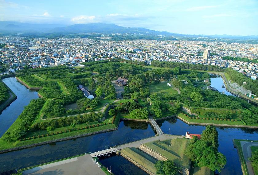 Ongerept Japan reis hakodate burcht