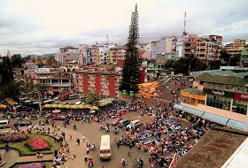 Vietnam Dalat Trekking bouwsteen iki Travels Dalat Market