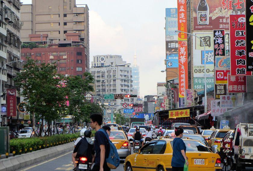 Taiwan reis Taipei straatbeeld