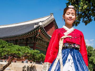 Zuid-Korea Hanbok Gyeongbokgung Palace Seoul