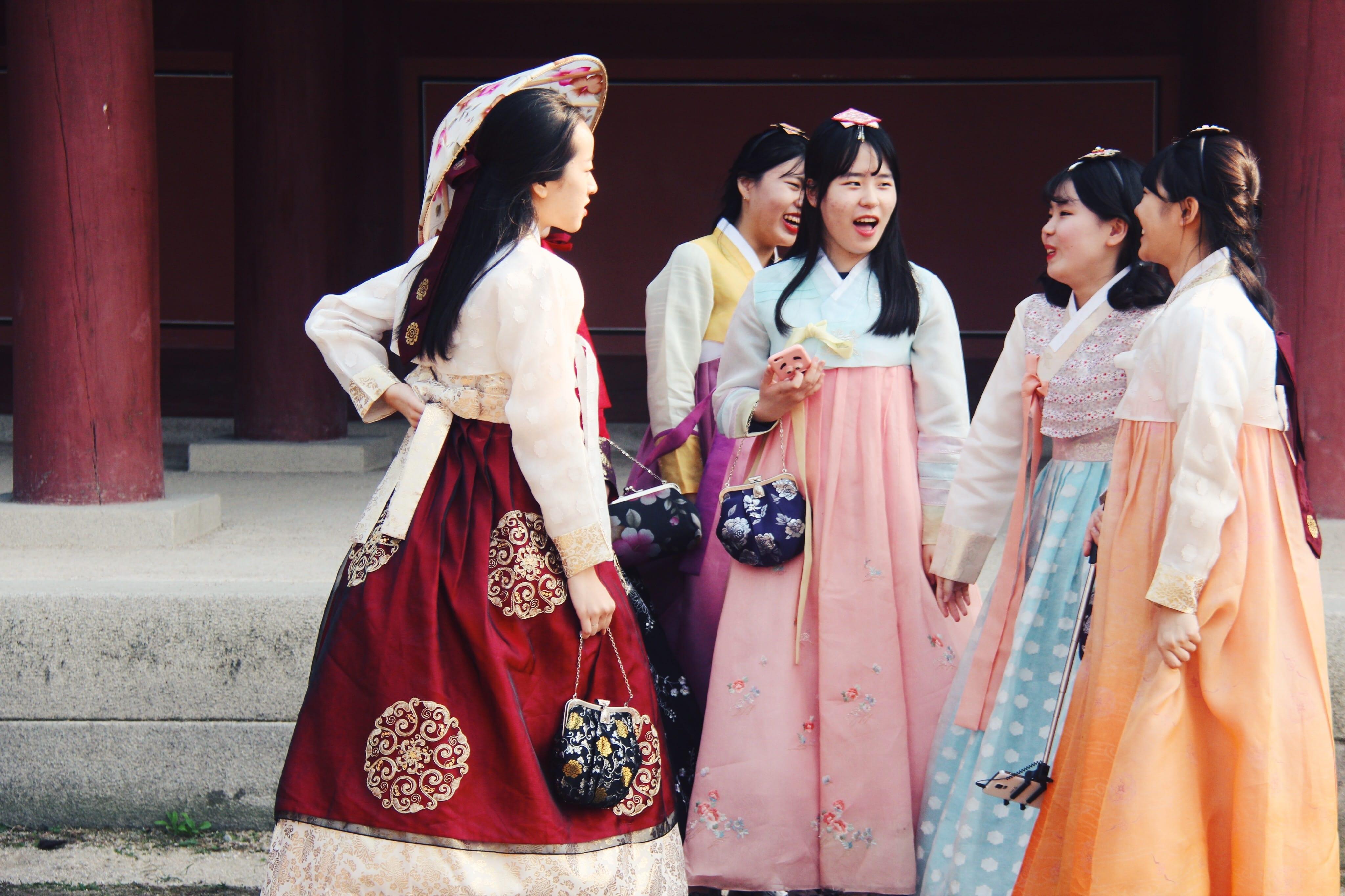 Meisjes In Hanbok
