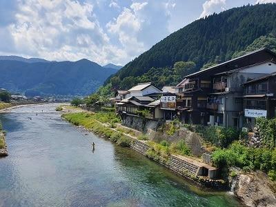 Japan Gujo Hachiman Landschap Rivier