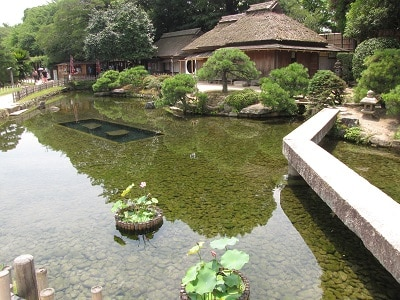 Japan Okoyama Koraku En Garden Vijver