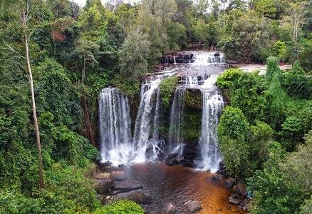 Cambodja ang thom waterval
