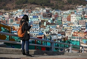 Zuid Korea, Jeju Cheonjiyeon Waterfall