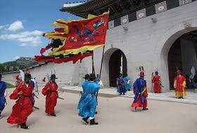 Zuid Korea, Seoul, Gyeongbokpaleis Wacht